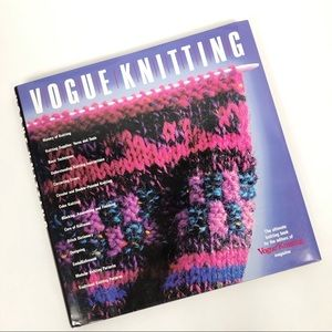 VINTAGE 1980's Vogue Knitting Coffee Table Book